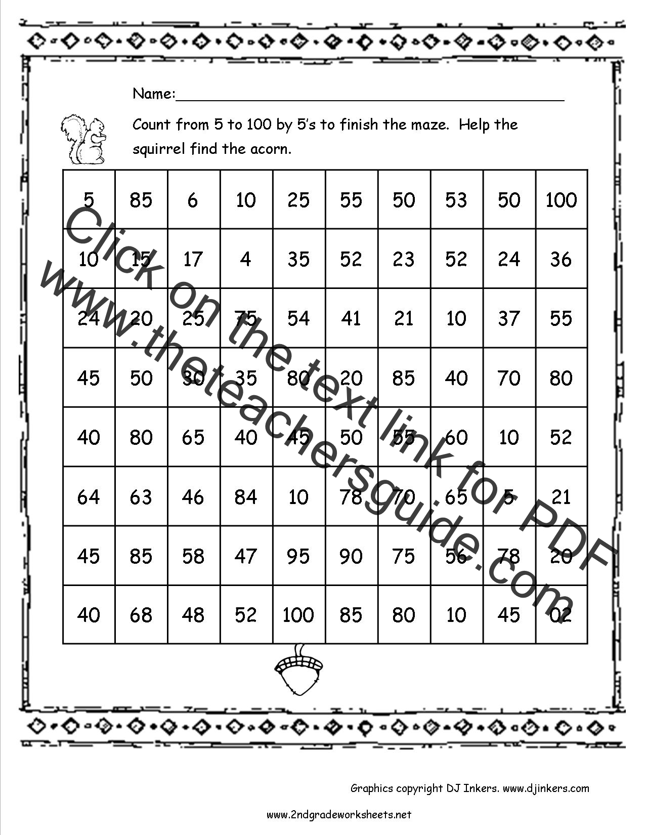 100th Day of School Worksheets and Printouts – Count to 100 Worksheet