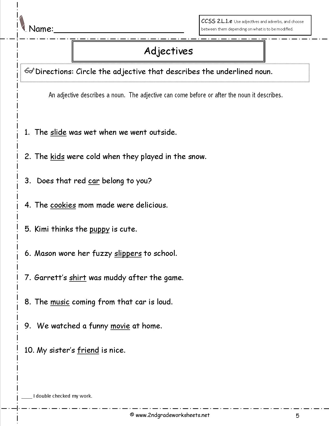 Worksheets Adjective Worksheets Free free using adjectives worksheets worksheet