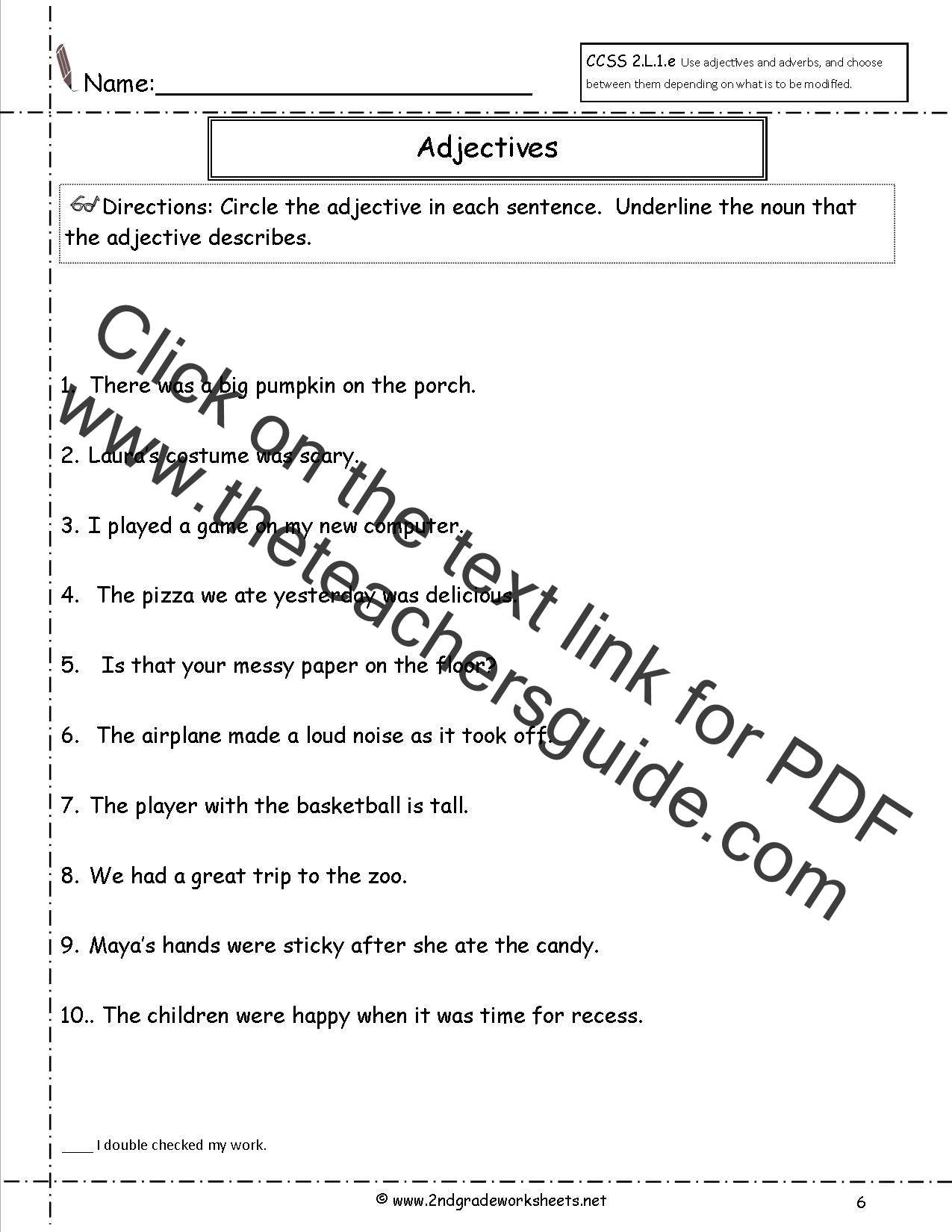 Free Using Adjectives and Adverbs Worksheets – Adjectives Worksheet