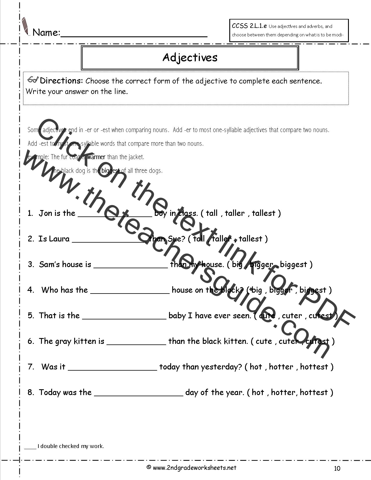 worksheet Adjectives Worksheets For Grade 5 free using adjectives and adverbs worksheets worksheet