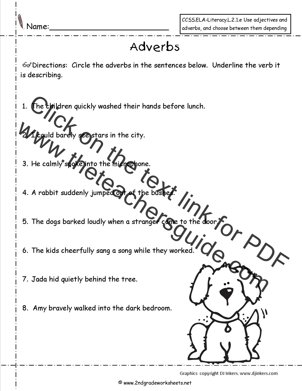 Free Using Adjectives and Adverbs Worksheets – Adverbs Worksheet