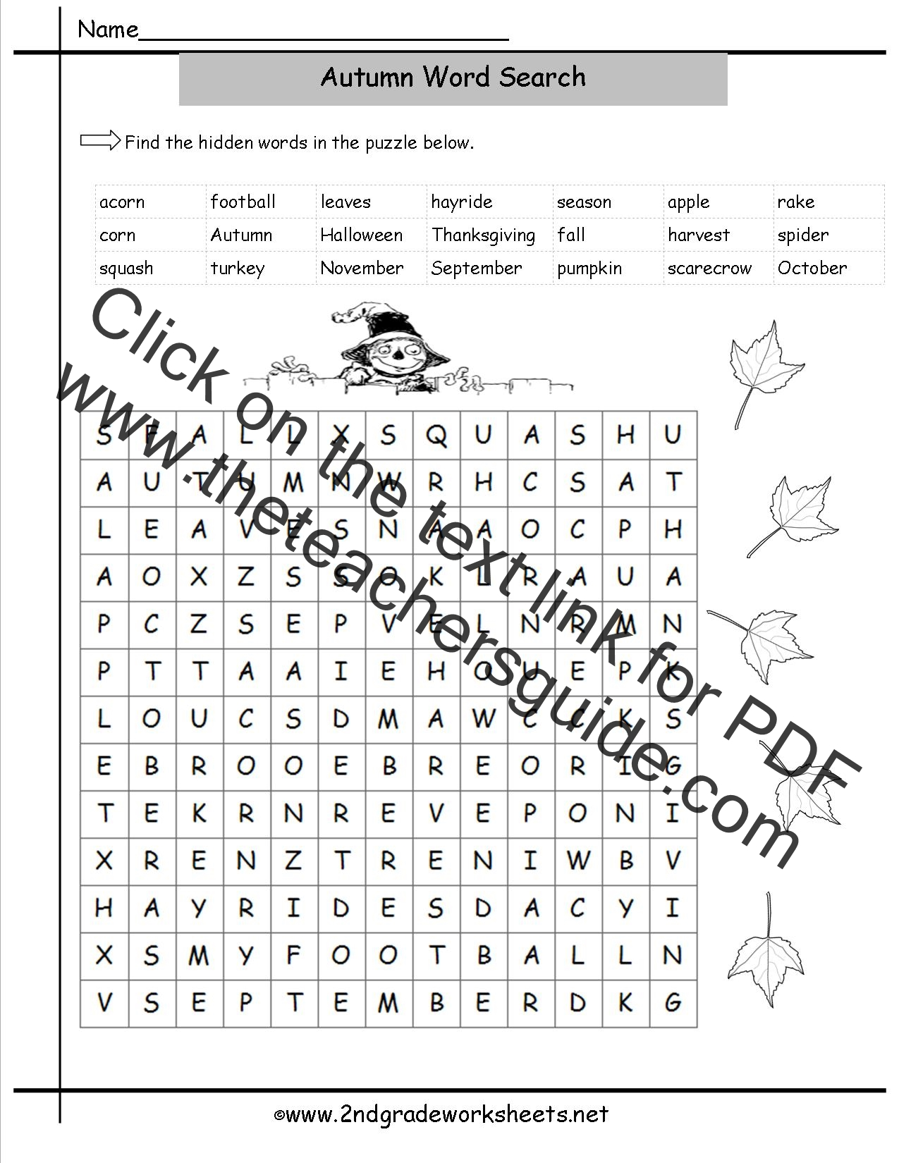 worksheet Free Fall Problems Worksheet autumn theme worksheets and printouts wordsearch