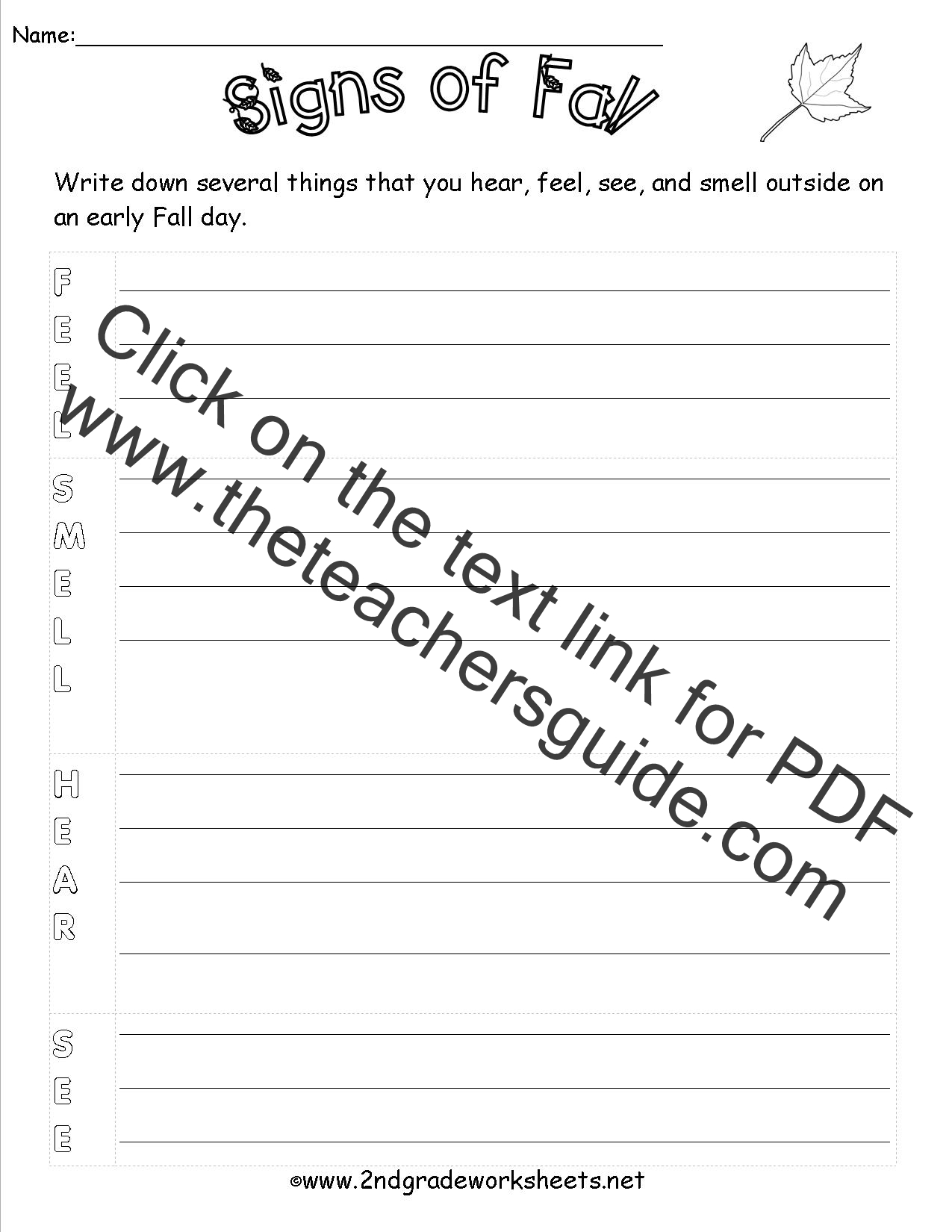 Autumn Theme Worksheets and Printouts – Theme Worksheets