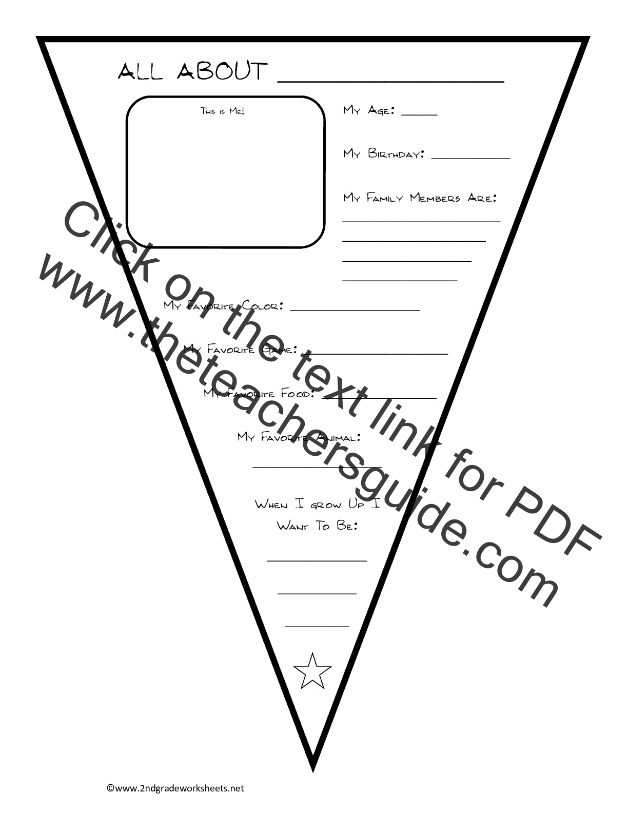 photo regarding Free Printable All About Me Worksheet known as Totally free Back again in the direction of Faculty Worksheets and Printouts