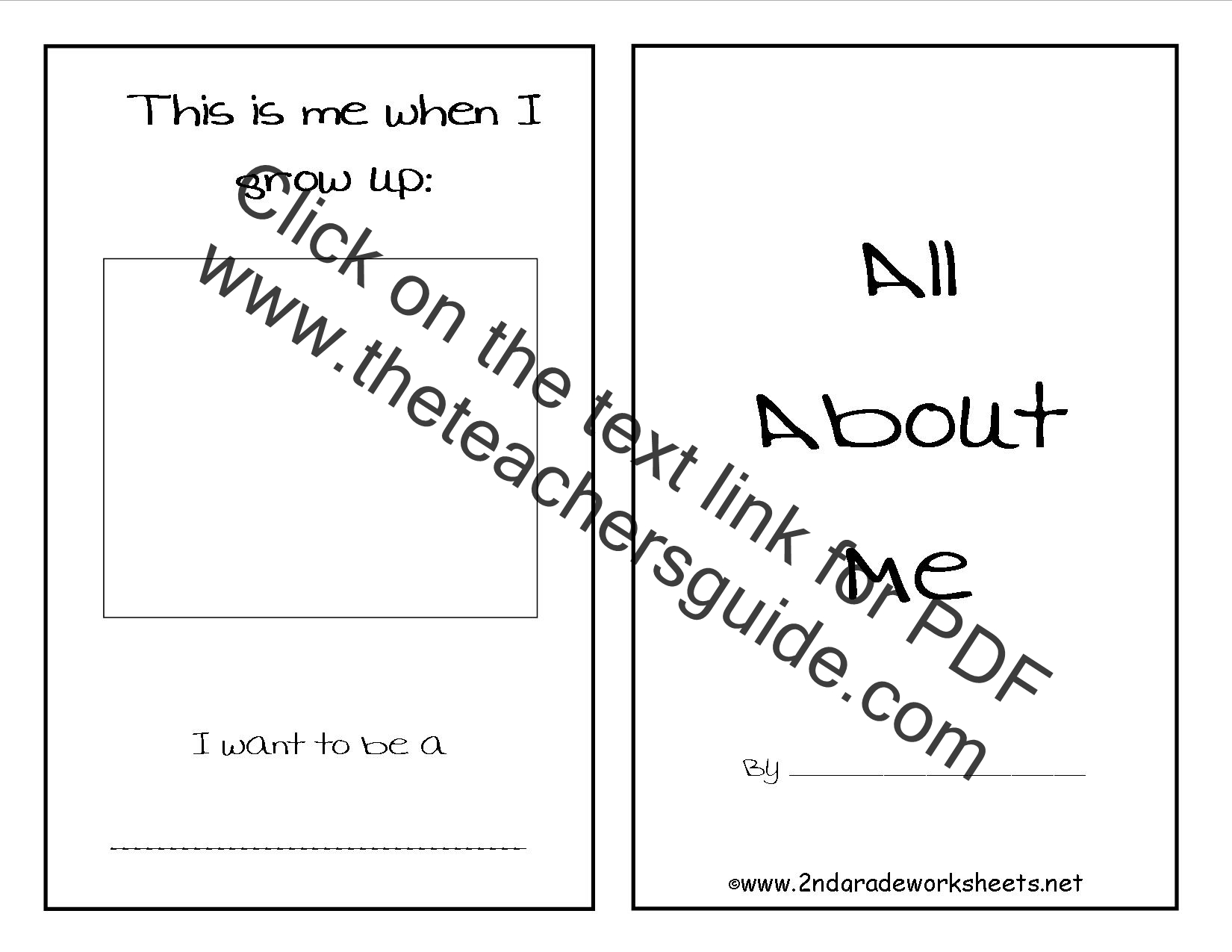 photo about All About Me Printable Worksheets named No cost Back again in direction of University Worksheets and Printouts