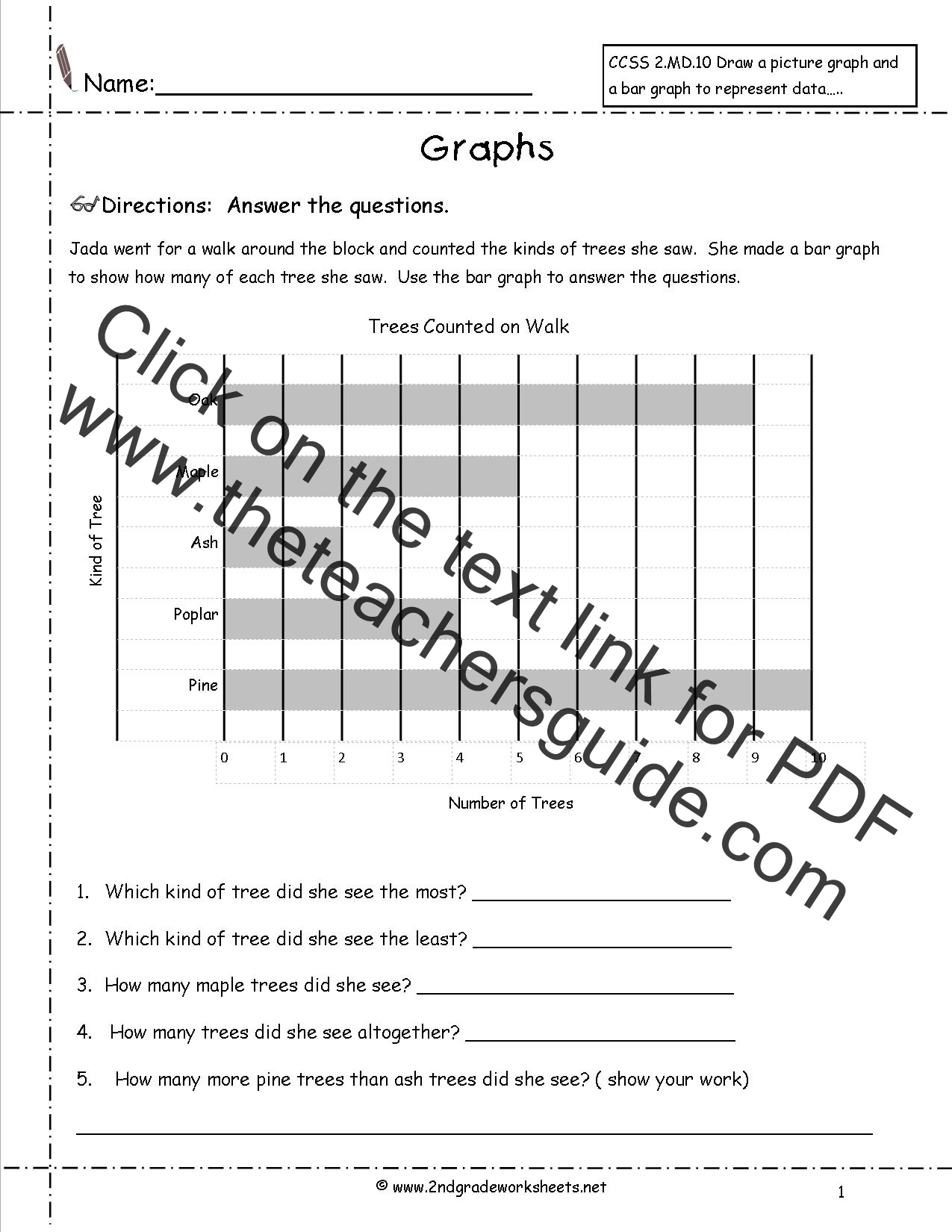 Worksheets Bar Graph Worksheets reading and creating bar graph worksheets tree graph