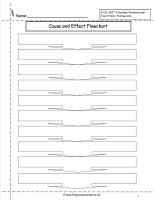 cause and effect flowchart worksheet