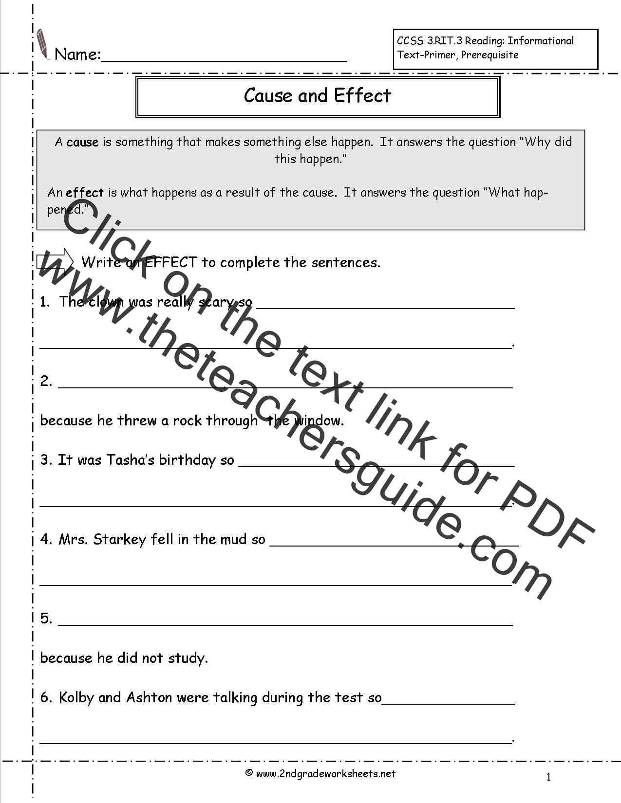worksheet Cause And Effect Worksheets For 2nd Grade cause and effect worksheets