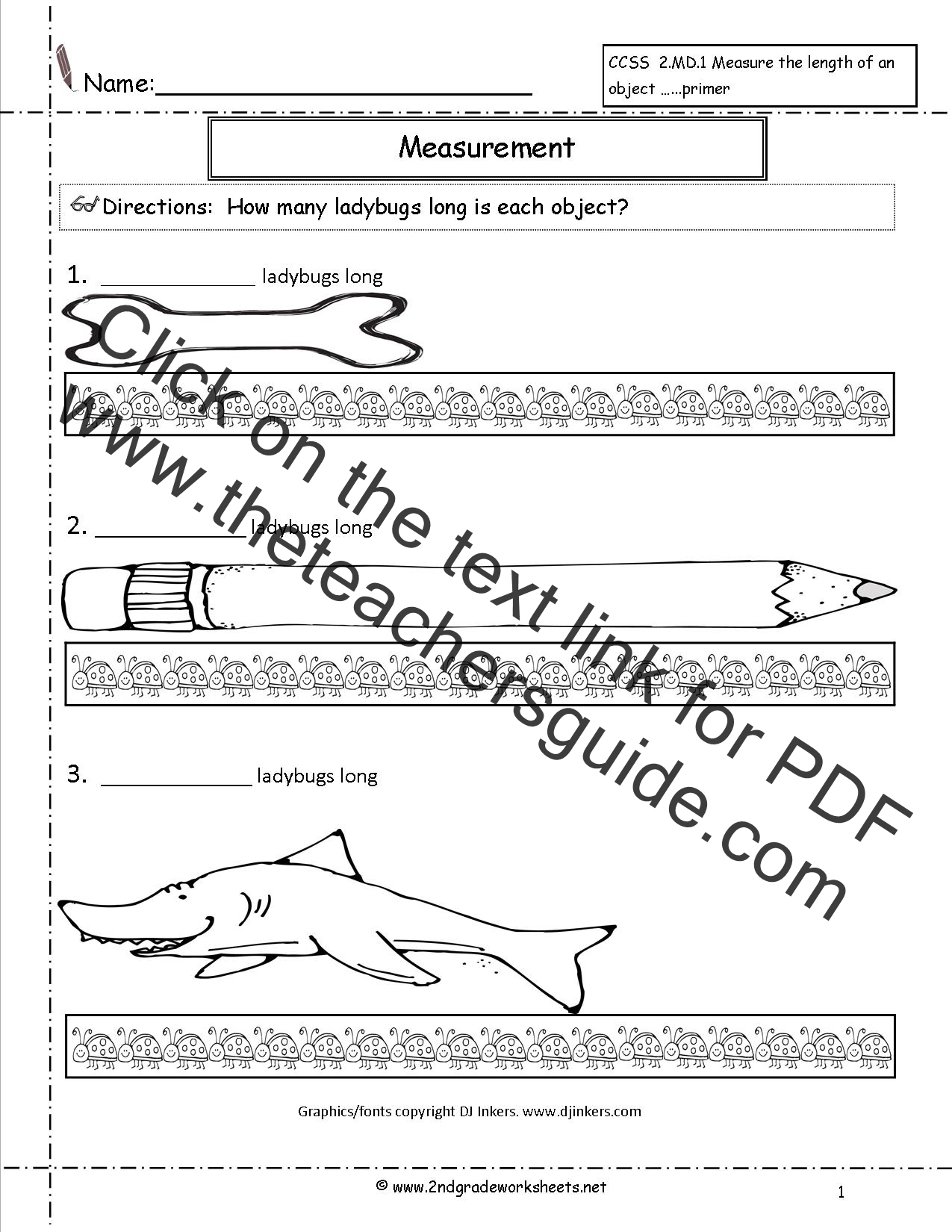 Measurement Worksheets 2nd Grade - Davezan