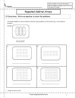repeated addition arrays worksheet