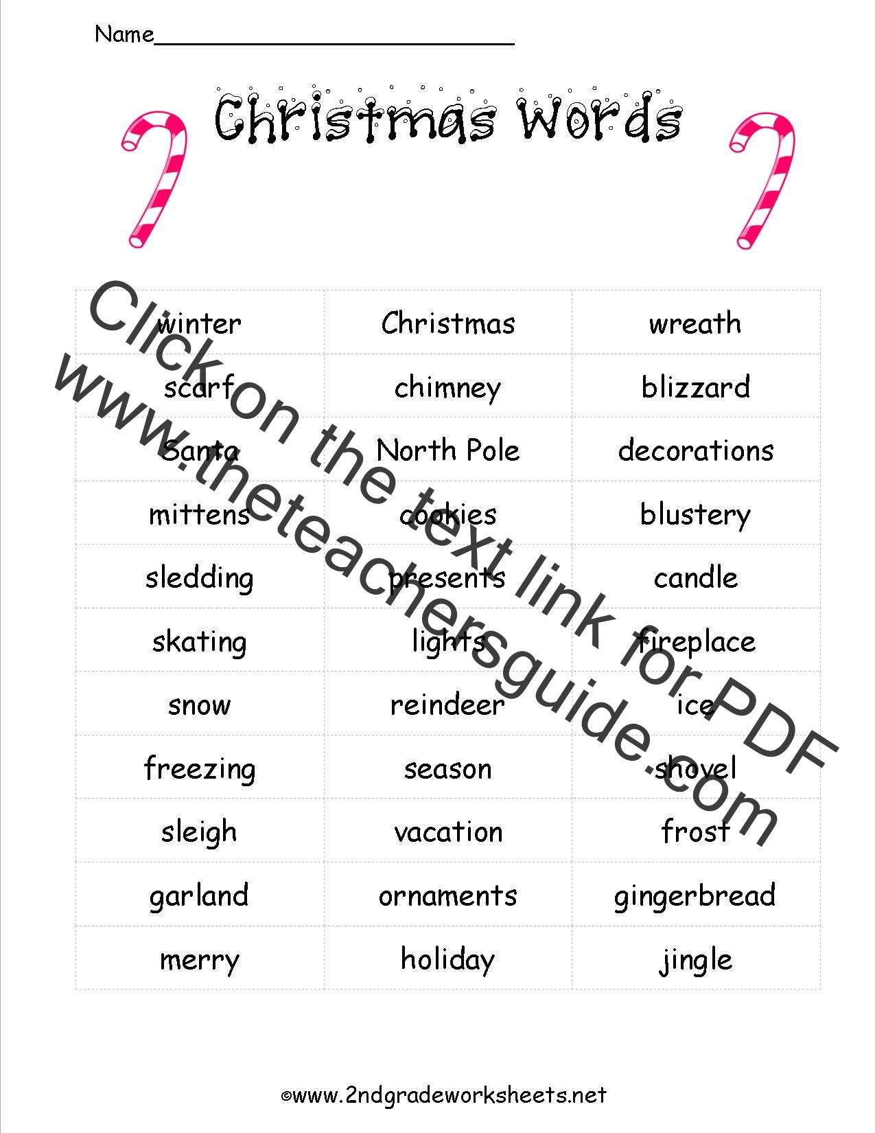 christmas song worksheet