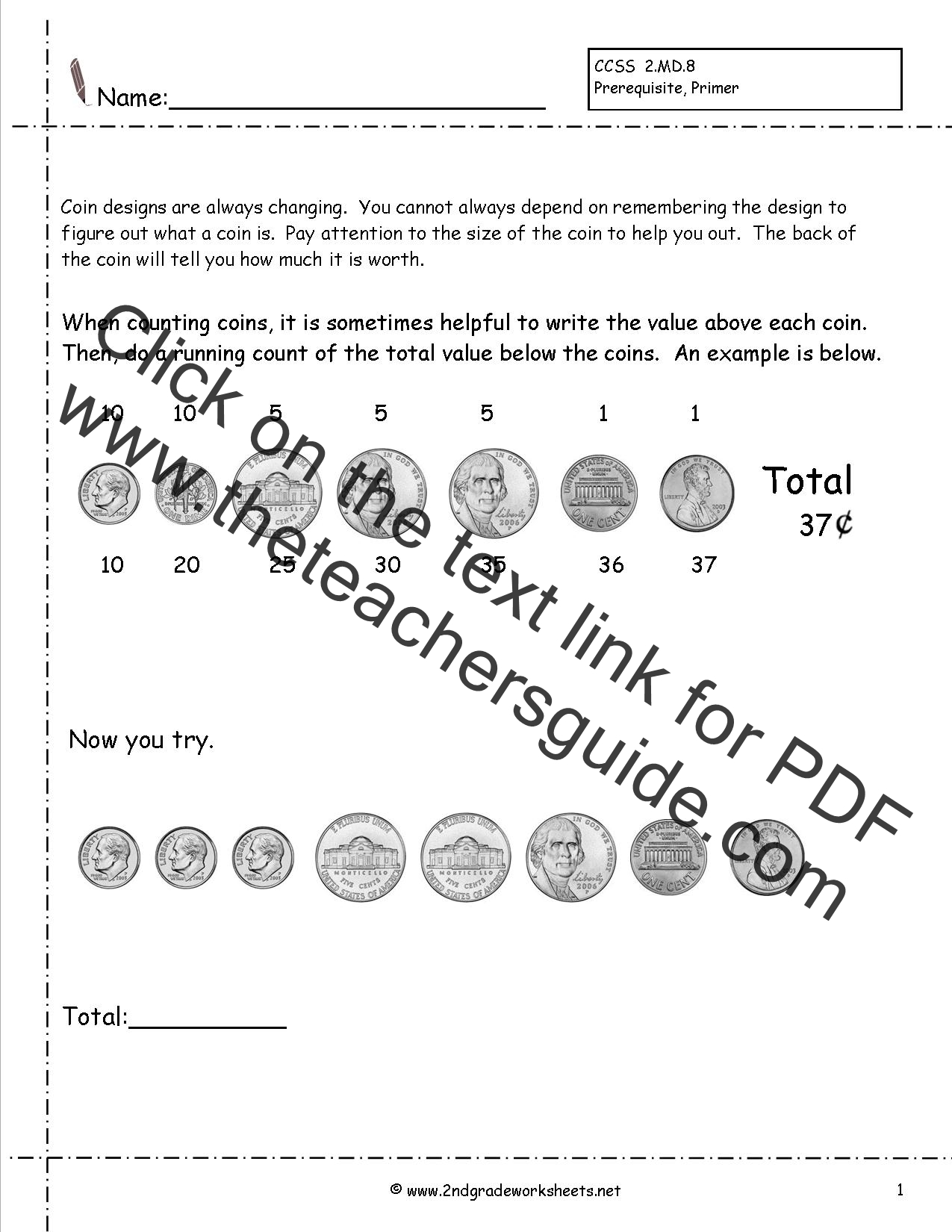 worksheet Money Practice Worksheets ccss 2 md 8 worksheets counting coins money practice worksheet introduction