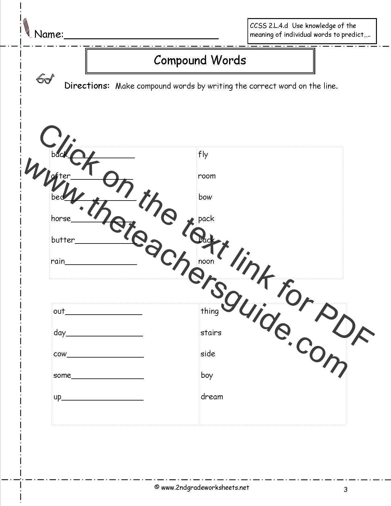 Compound Words Worksheets – Multiple Meaning Word Worksheet