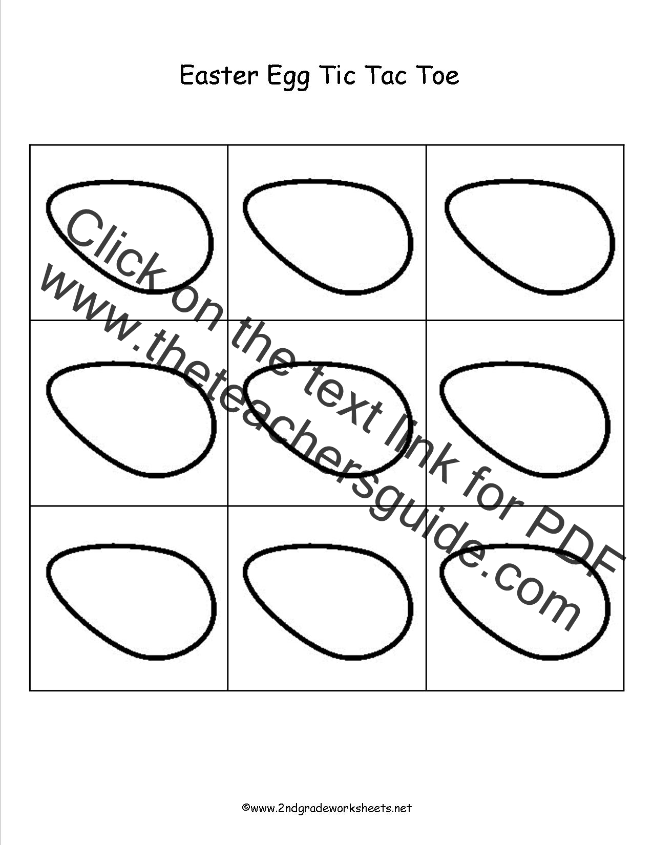 Easter Worksheets and Printouts – Tic Tac Toe Math Worksheets
