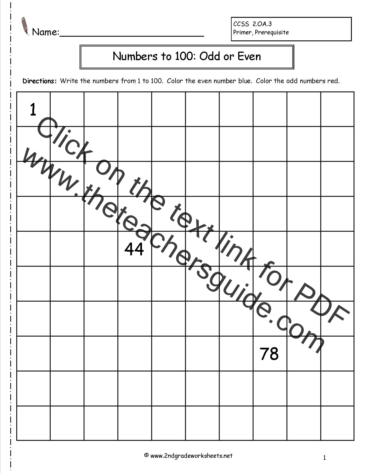 worksheet Even And Odd Worksheets For 2nd Grade even and odd numbers worksheets worksheet