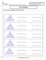math worksheet : fact family worksheets : Math Fact Family Worksheets