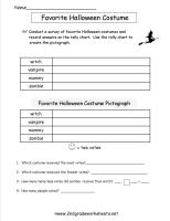 halloween pictograph