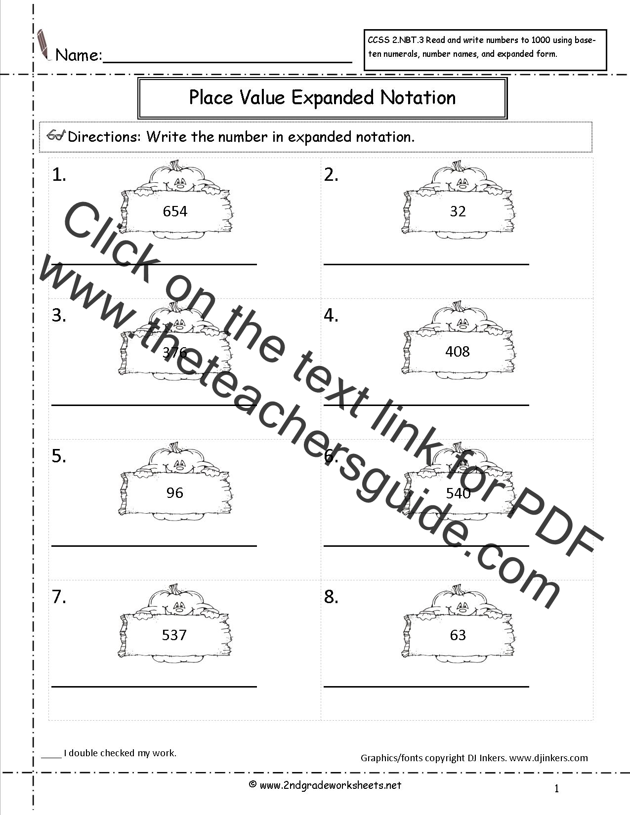 Worksheet 612792 Expanded Form Math Worksheets Place Value – Expanded Form Math Worksheets