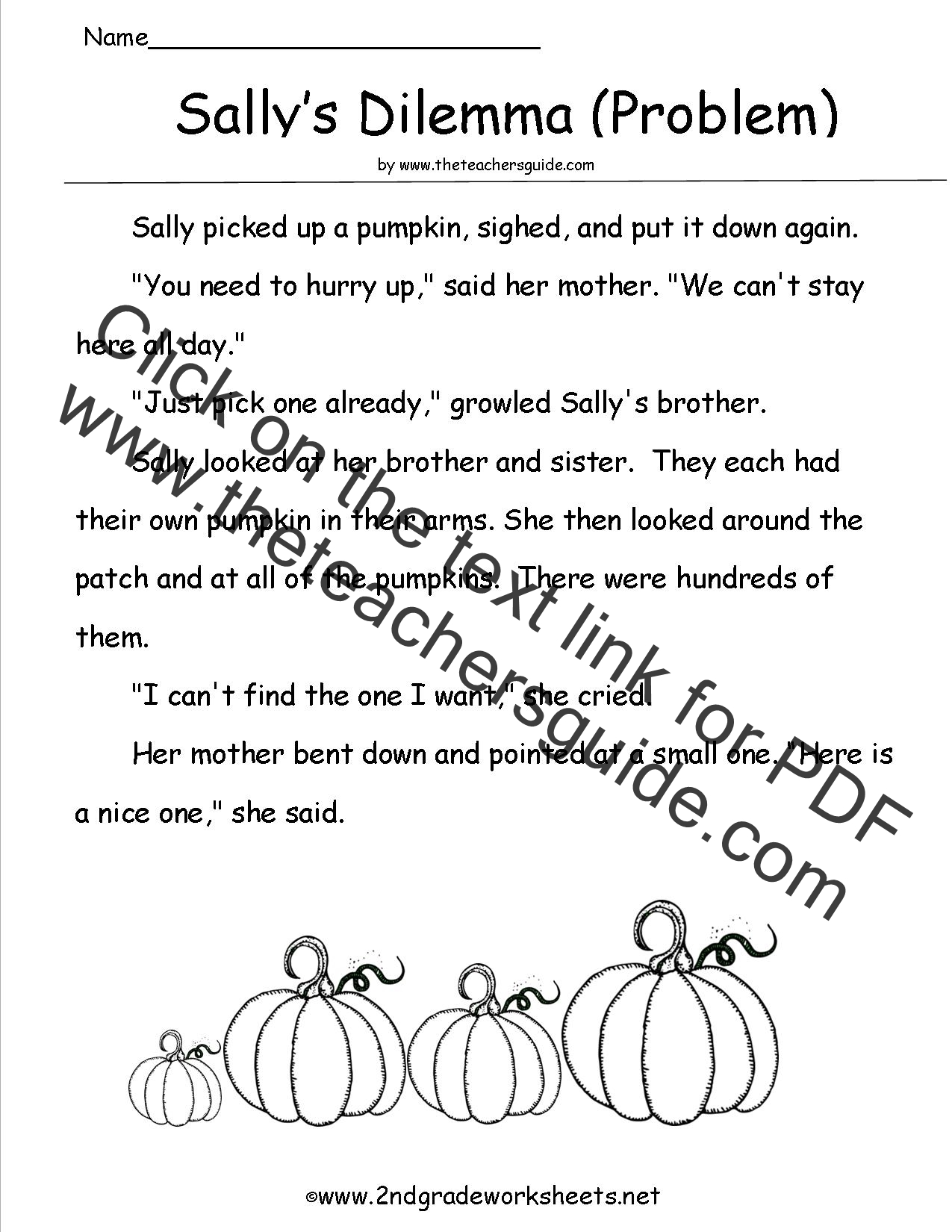 pumpkin comprehension paper