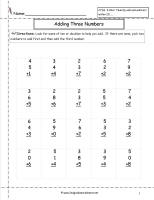math worksheet : free math worksheets and printouts : One Digit Addition Worksheet