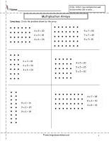 math worksheet : multiplication arrays worksheets : Multiplication Array Worksheet