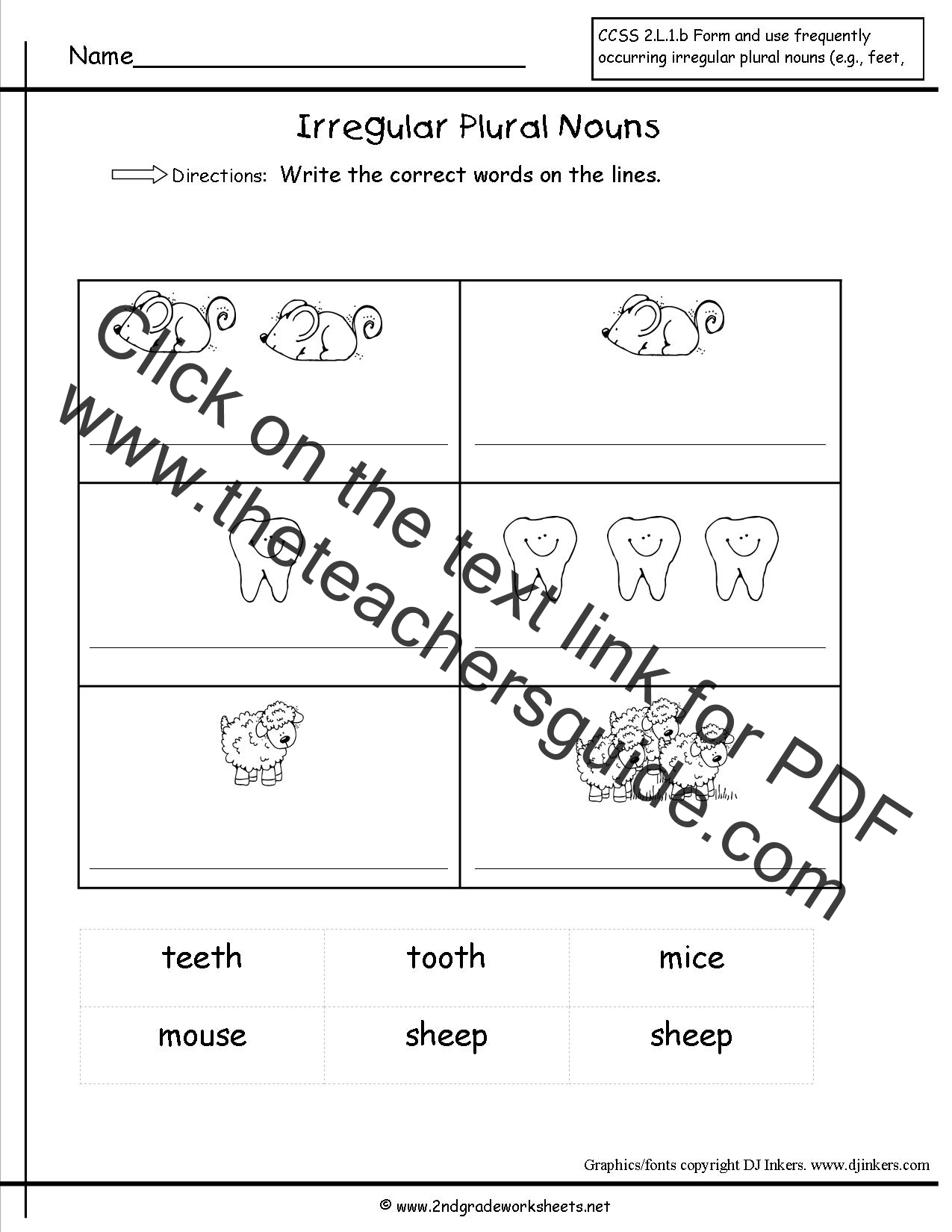 Singular and Plural Nouns Worksheets – Irregular Plural Nouns Worksheet 4th Grade