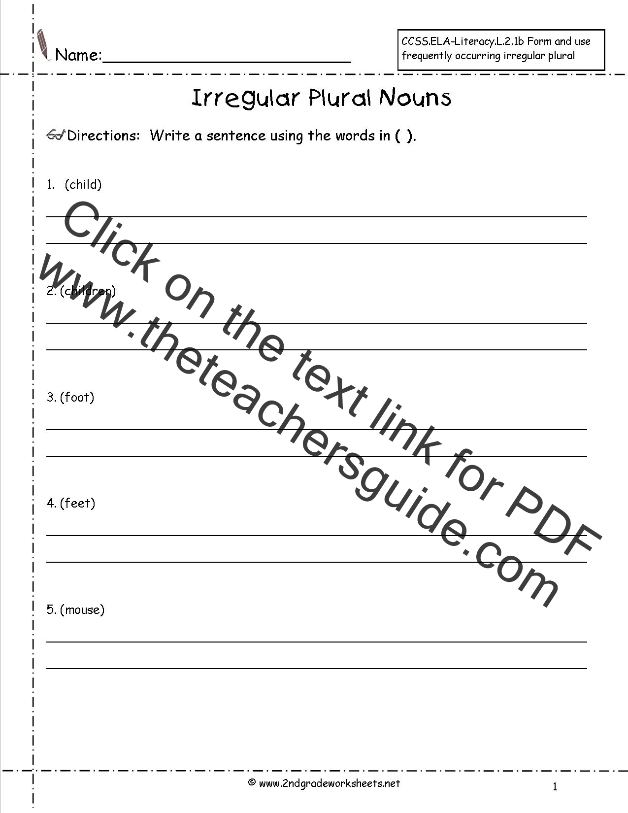 Printables Irregular Plural Nouns Worksheets singular and plural nouns worksheets irregular worksheet
