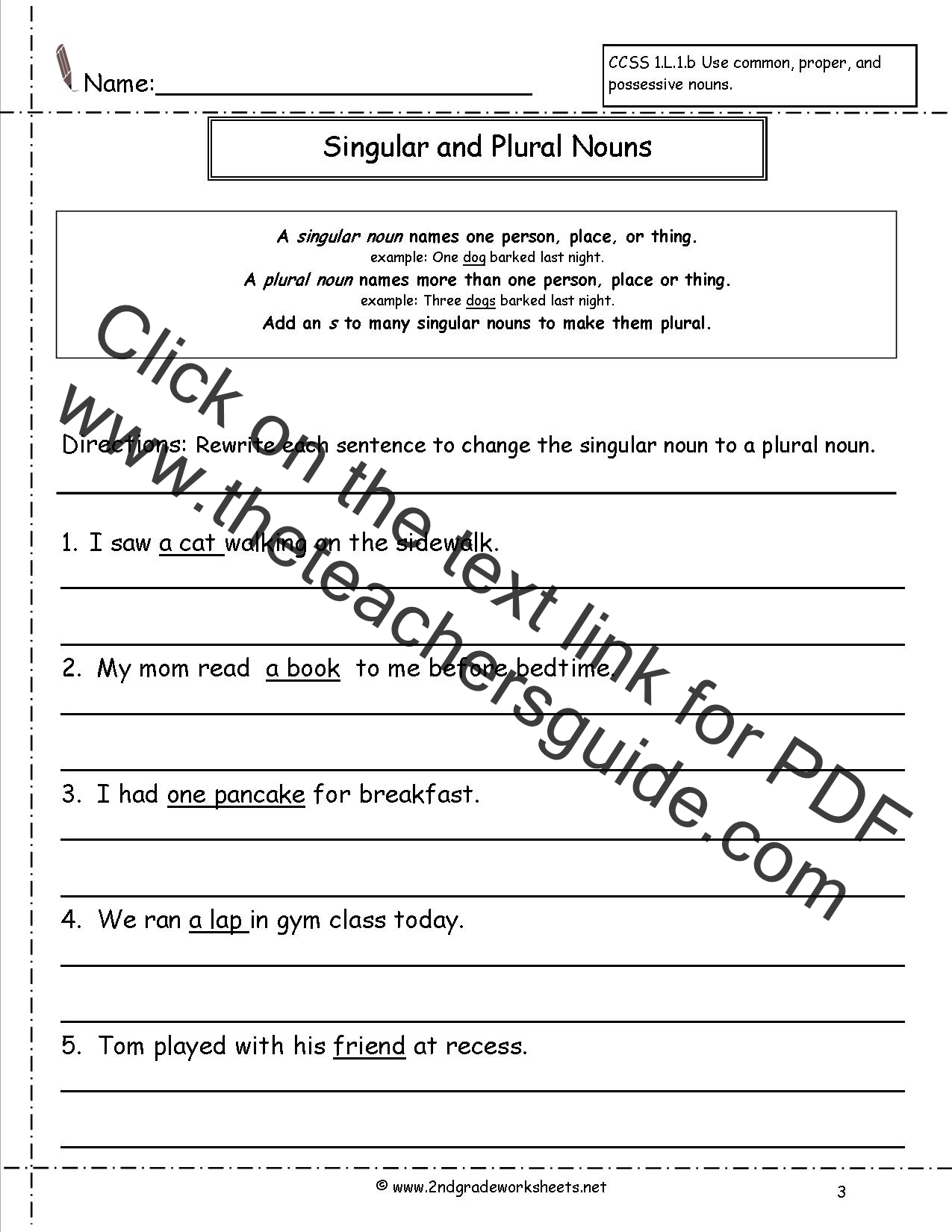 Singular and Plural Nouns Worksheets – Singular and Plural Nouns Worksheets
