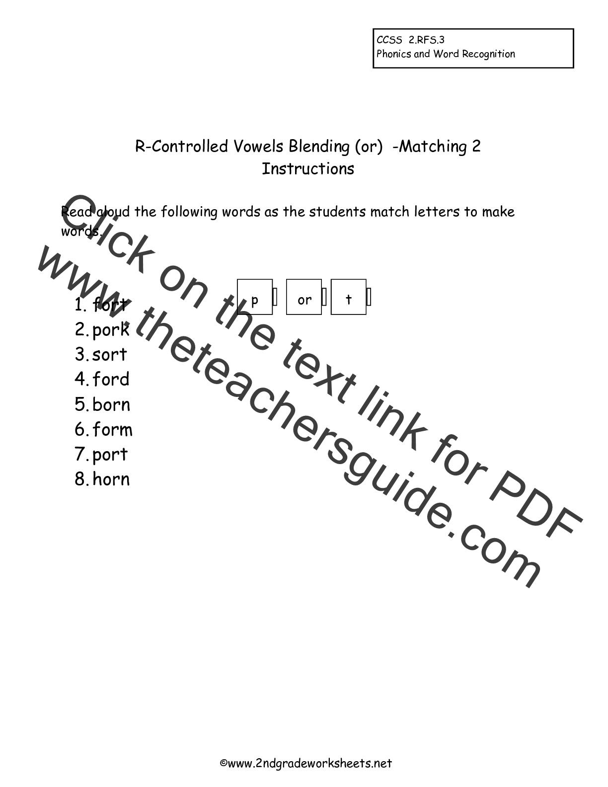 worksheet R Controlled Worksheets second grade phonics worksheets and flashcards worksheet