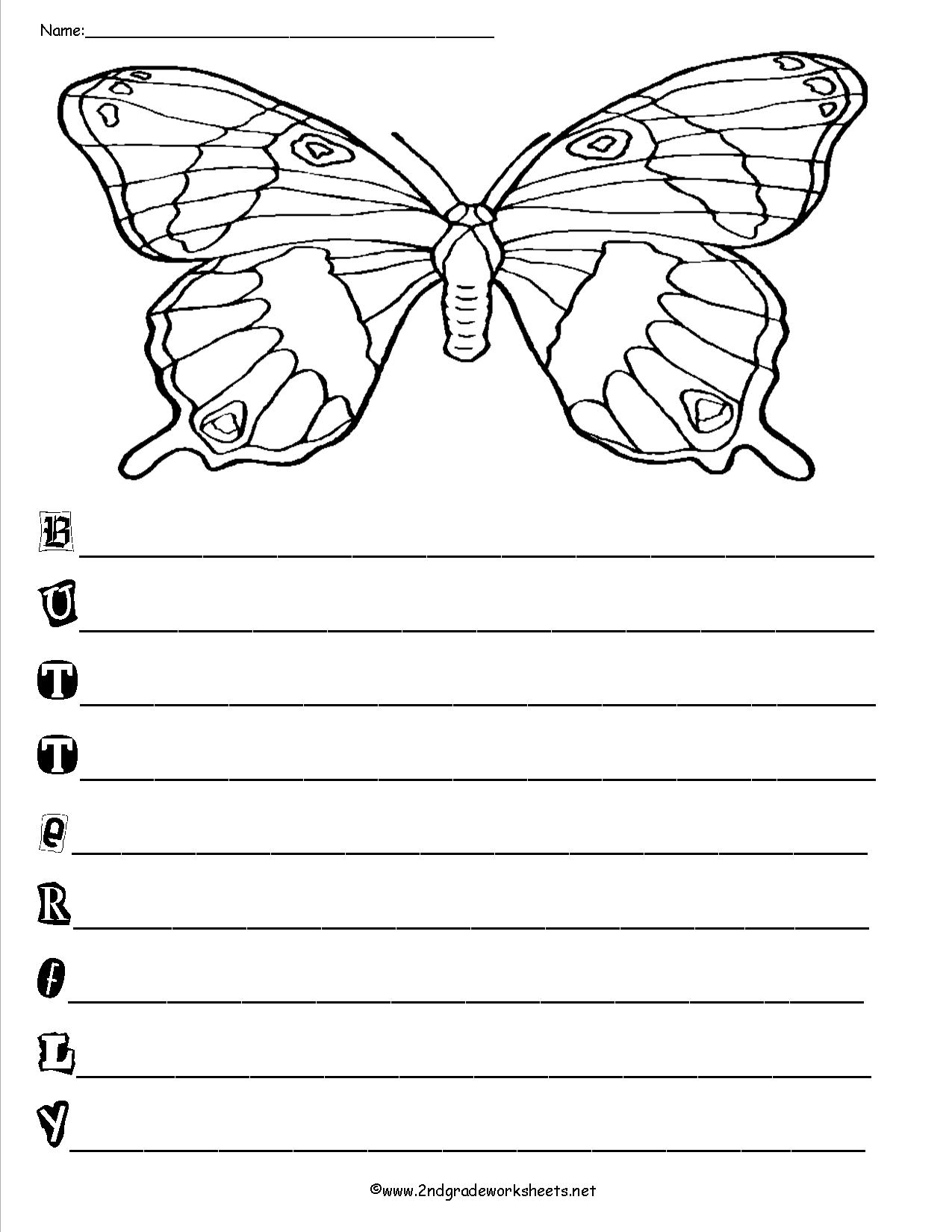 Acrostic Poem Forms, Templates, and Worksheets