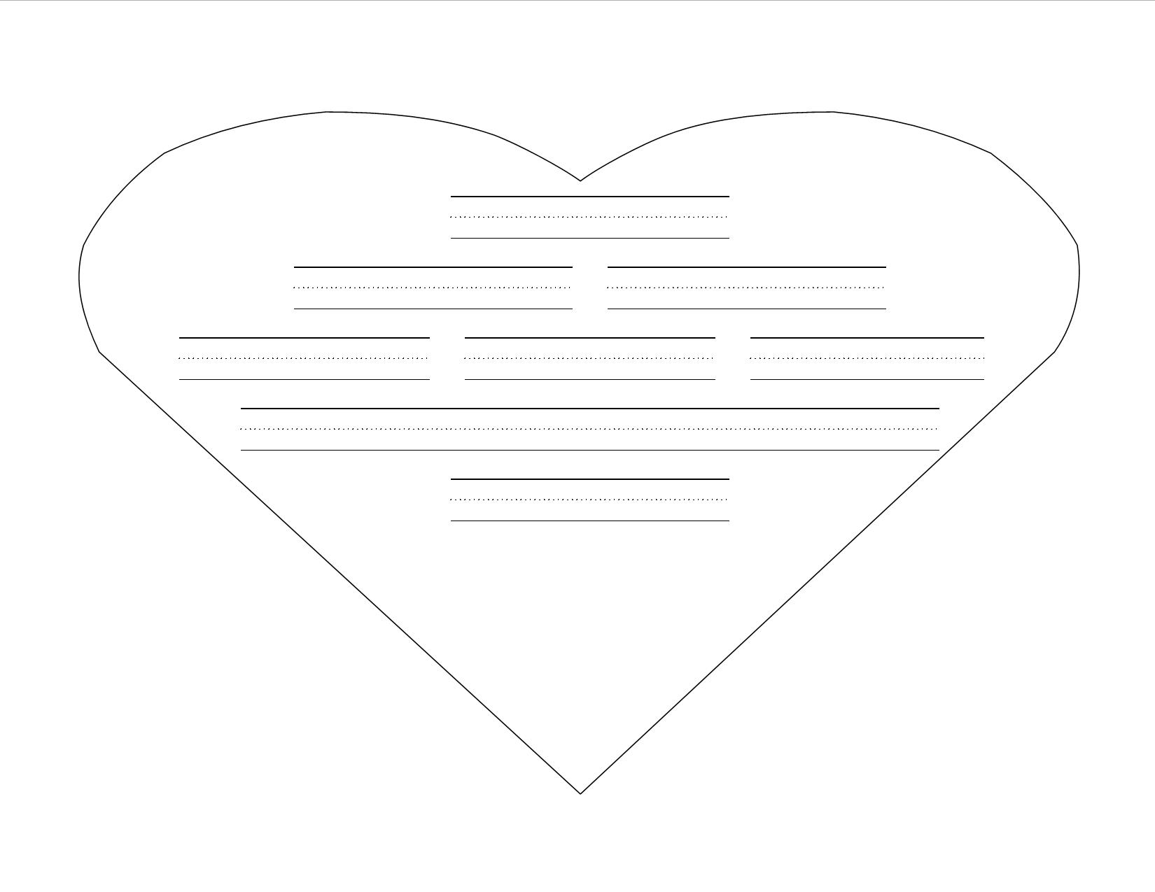heart shaped writing template - heart writing template with lines choice image
