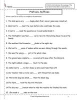 Worksheets Prefix And Suffix Free Printable Worksheet second grade prefixes worksheets and suffixes worksheet