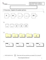 pattern test worksheet