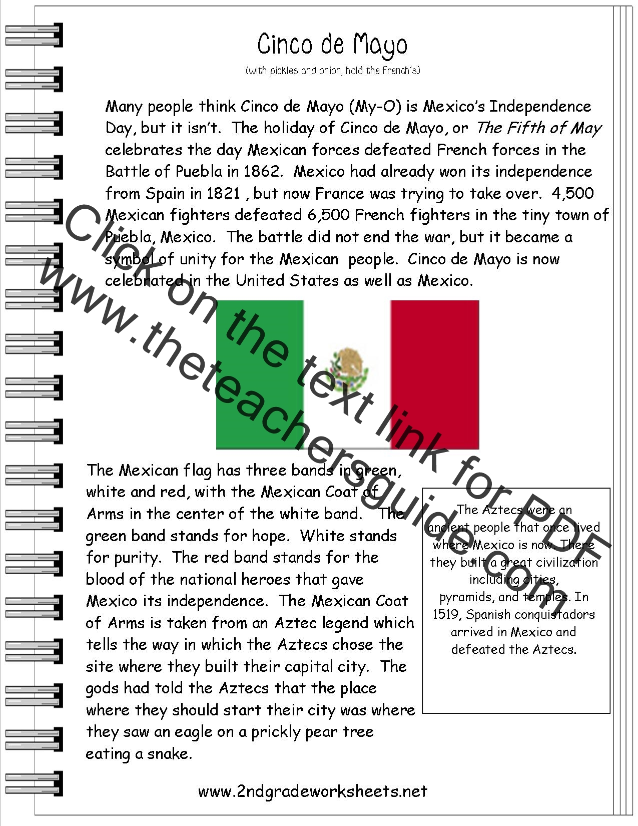 Exceptional image for free printable spanish reading comprehension worksheets