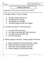 combining sentences worksheet