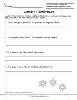 combine sentences worksheets