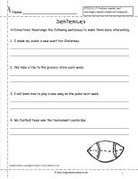 rearrange sentences worksheet