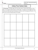 adding three single digit numbers worksheet
