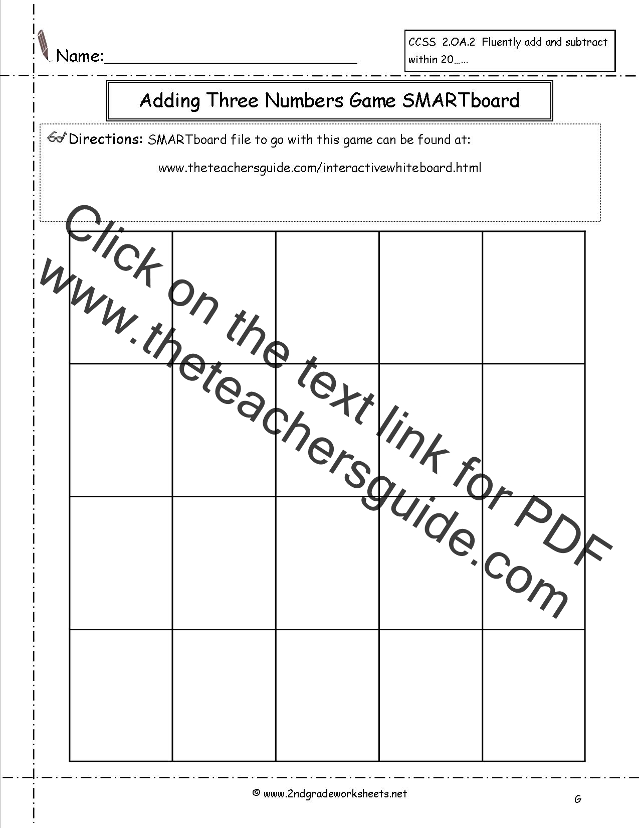 Adding Three or More Single Digit Numbers Worksheets