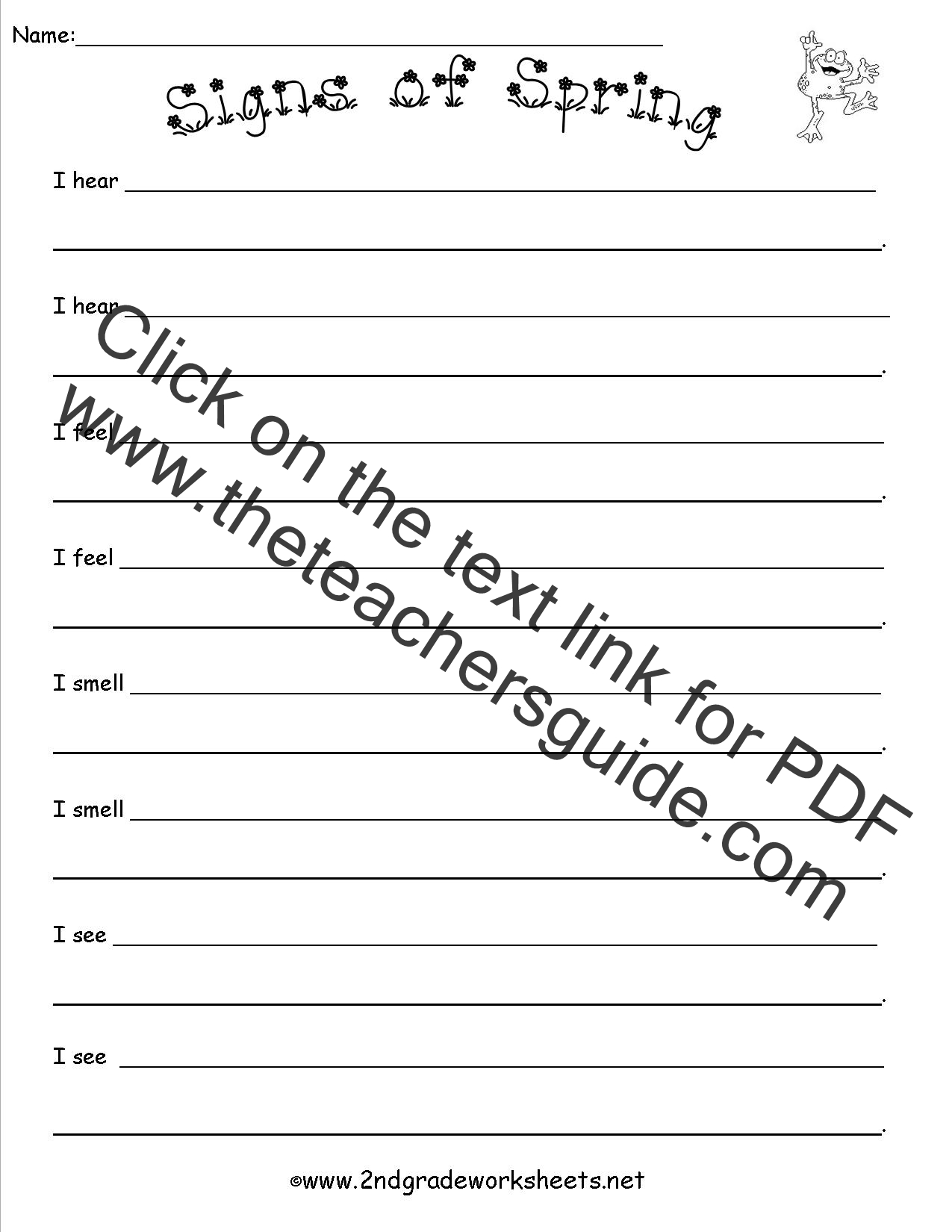 worksheet Spring Worksheet theme worksheets signs of spring worksheet