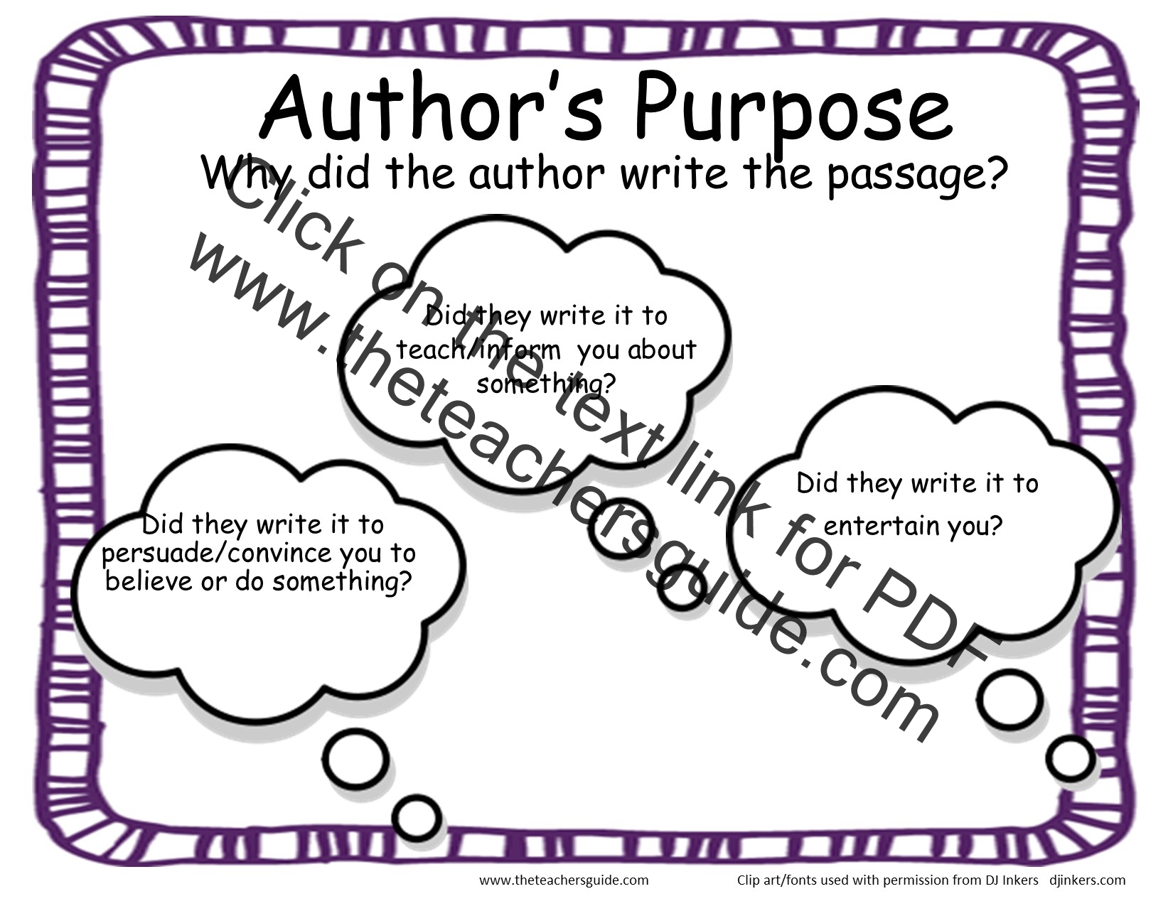worksheet Authors Purpose Worksheet second grade story element reference cards authors purpose