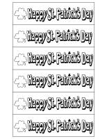 st patricks day bookmarks