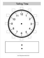 telling time clock face