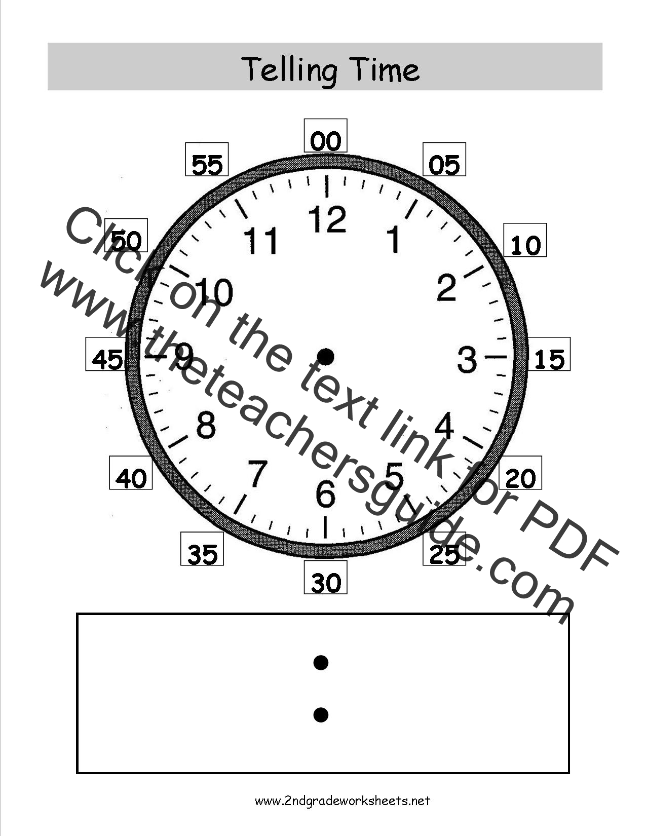 telling time worksheets grade 2 pdf
