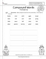 thanksgiving compound words worksheet