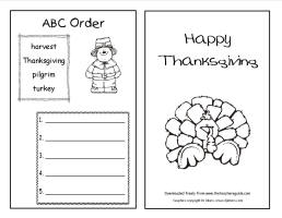 thanksgiving booklet worksheet