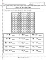 counting on ones and tens worksheet