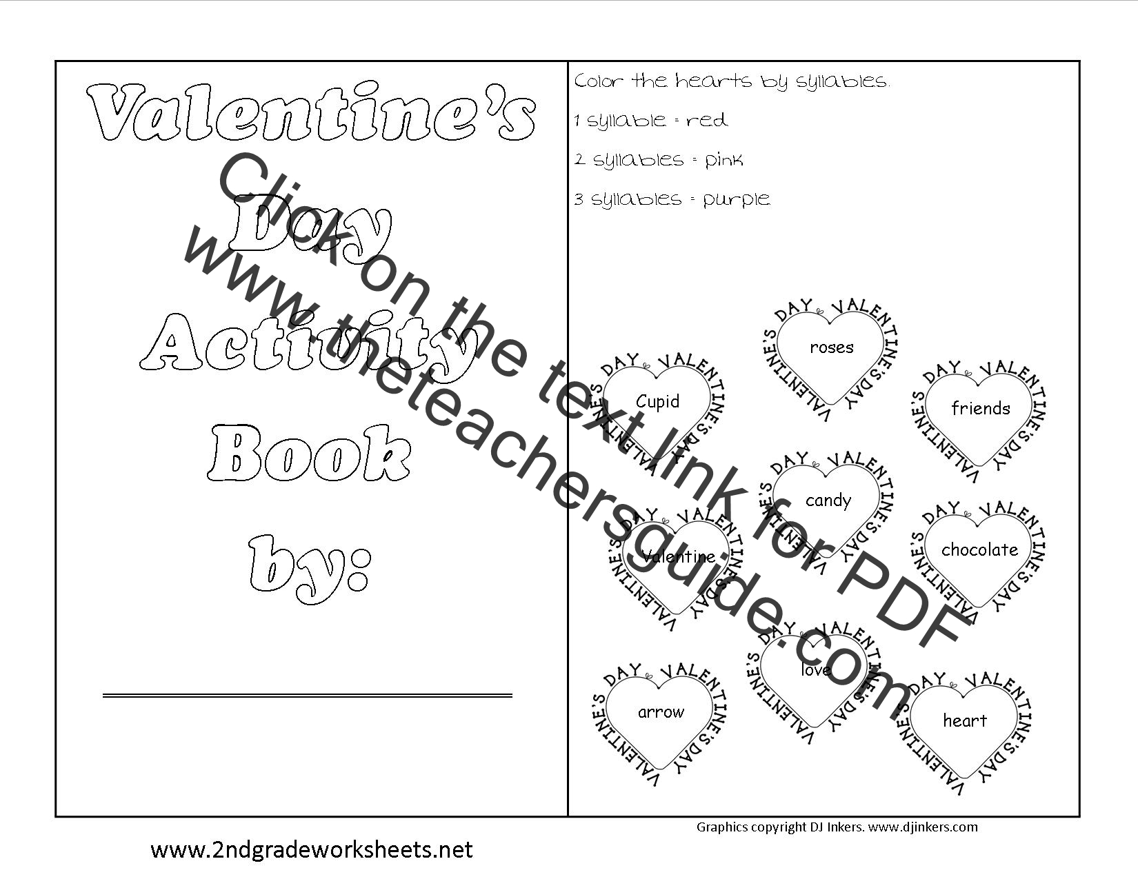 valentine 39 s day printouts and worksheets. Black Bedroom Furniture Sets. Home Design Ideas