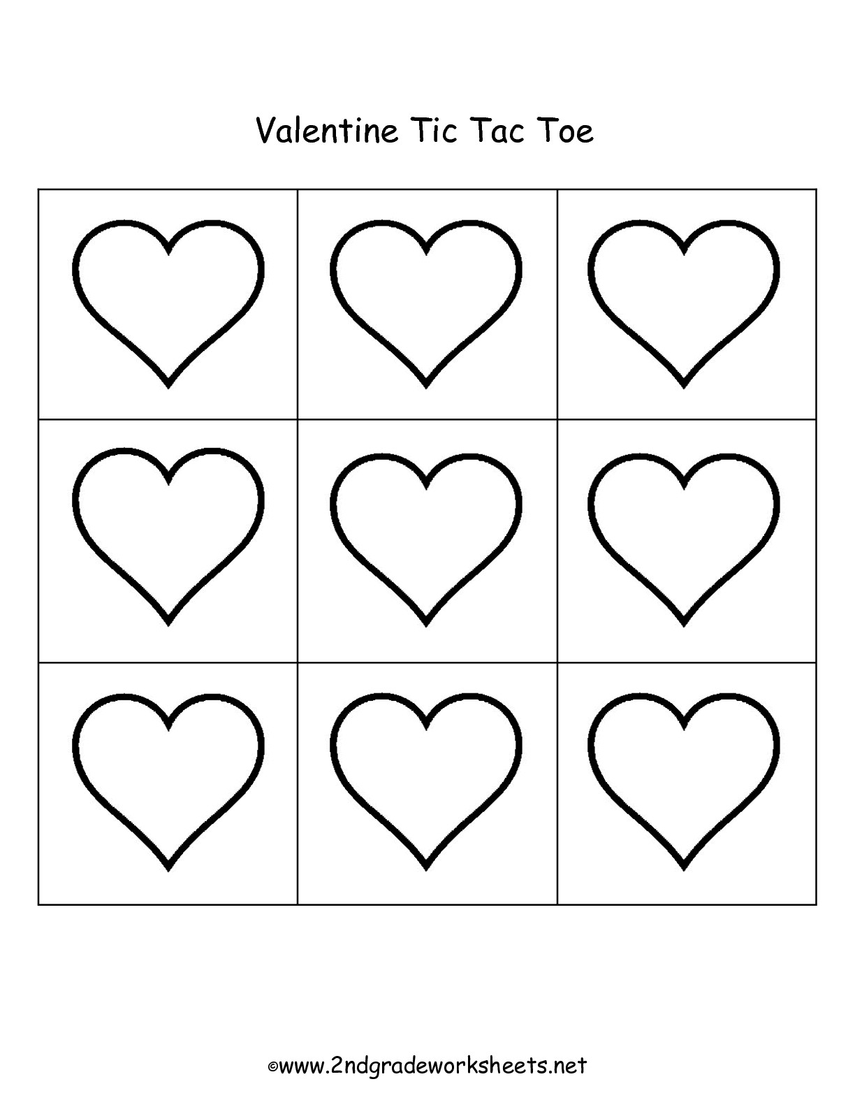 Valentine\'s Day Printouts and Worksheets