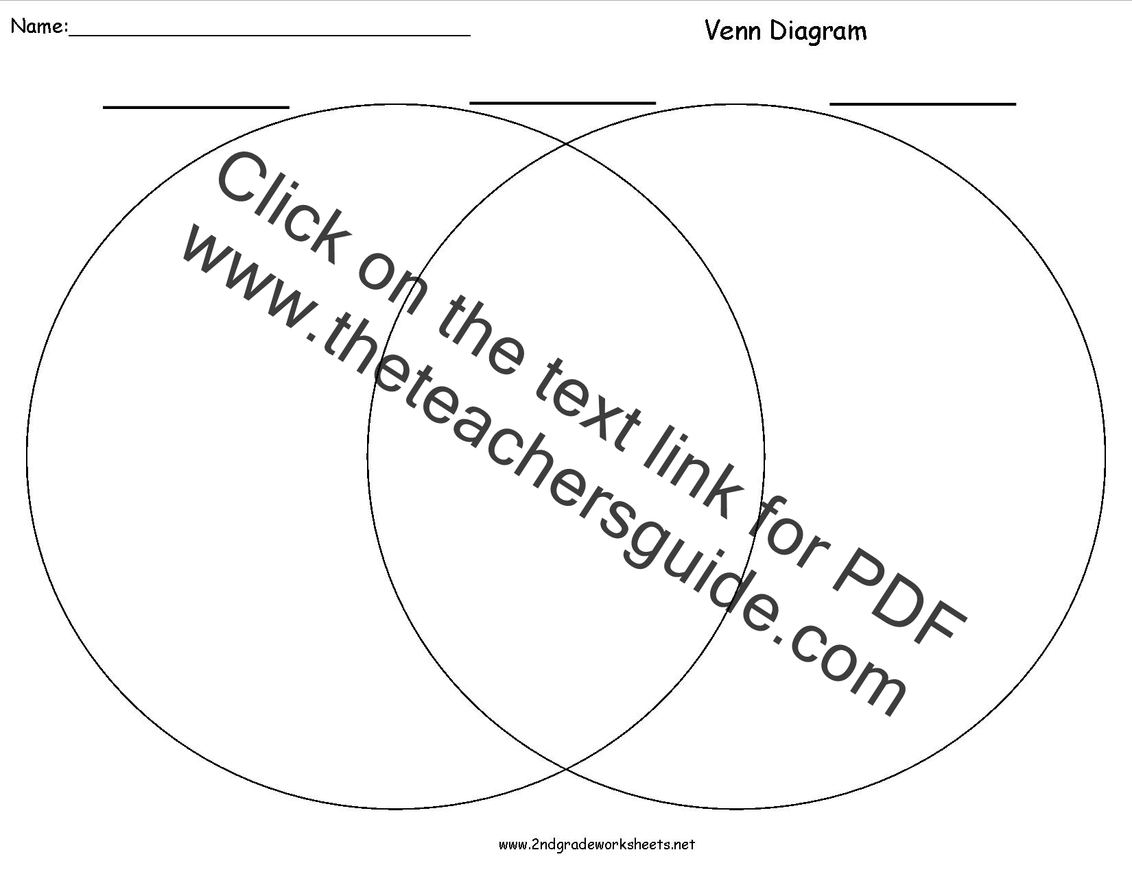 Writing Organizers Worksheets – Venn Diagram Worksheet